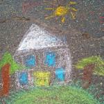 Рисуем на асфальте